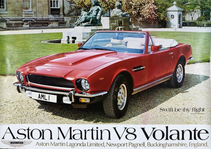 Picture of V8 Volante - 'Swift be thy flight' Poster