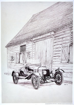 Picture of A3 Sketch at The Barn Poster